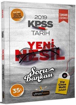 Beyaz Kalem Yayınları 2019 KPSS Tarih Yeni Nesil Soru Bankası