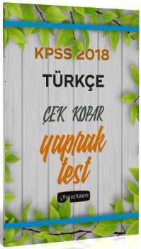 Beyaz Kalem Yayınları 2018 KPSS Türkçe Çek Kopar Yaprak Test