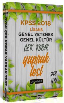 Beyaz Kalem Yayınları 2018 KPSS Genel Yetenek Genel Kültür Çek Kopar Yaprak Test