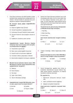 Beyaz Kalem Yayınları 2018 KPSS Genel Yetenek Genel Kültür Lise Ön Lisans Çek Kopart Yaprak Test