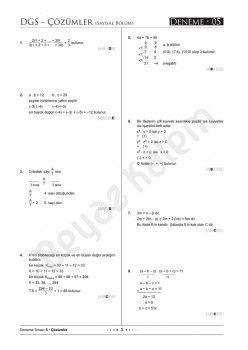 Beyaz Kalem Yayınları DGS Tamamı Çözümlü 10 Deneme Sınavı