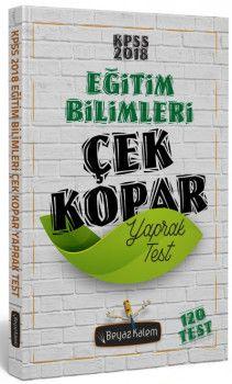 Beyaz Kalem Yayınları 2018 KPSS Eğitim Bilimleri Çek Kopar Yaprak Test