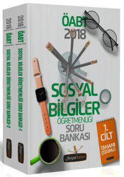 Beyaz Kalem Yayınları 2018 ÖABT Sosyal Bilgiler Öğretmenliği Tamamı Çözümlü Soru Bankası 2 Kitap
