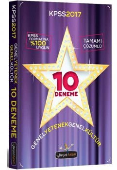 Beyaz Kalem Yayınları 2017 KPSS Genel Yetenek Genel Kültür Çözümlü 10 Deneme