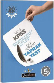 Beyaz Kalem Yayınları 2019 KPSS Öğretim Yöntem ve Teknikleri Öğretim Teknolojileri Çek Kopart Yaprak Test