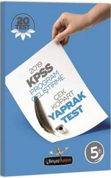 Beyaz Kalem Yayınları 2019 KPSS Program Geliştirme Çek Kopart Yaprak Test