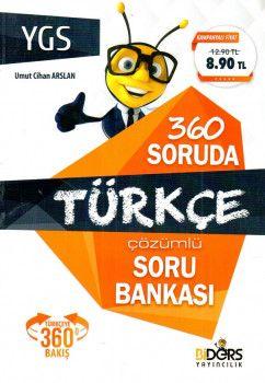 BiDers Yayınları YGS 360 Soruda Türkçe Çözümlü Soru Bankası