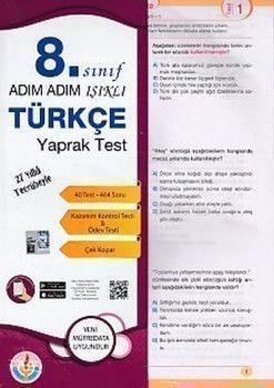 Bilal Işıklı Yayınları 8. Sınıf Adım Adım Işıklı Türkçe Yaprak Test