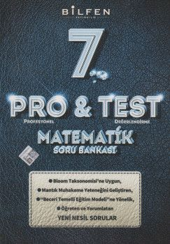 Bilfen Yayıncılık 7. Sınıf Matematik ProTest Soru Bankası