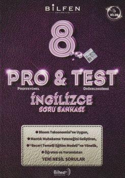 Bilfen Yayıncılık 8. Sınıf İngilizce ProTest Soru Bankası
