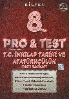 Bilfen Yayıncılık 8. Sınıf T.C. İnkılap Tarihi ve Atatürkçülük ProTest Soru Bankası