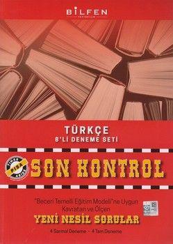 Bilfen Yayınları 8. Sınıf Türkçe Son Kontrol 8 li Deneme Seti