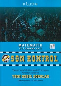 Bilfen Yayınları 8. Sınıf Matematik Son Kontrol 8 li Deneme Seti