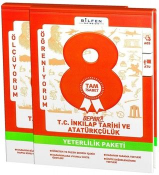 Bilfen Yayınları 8. Sınıf T.C. İnkılap Tarihi ve Atatürkçülük Depar Yeterlilik Paketi