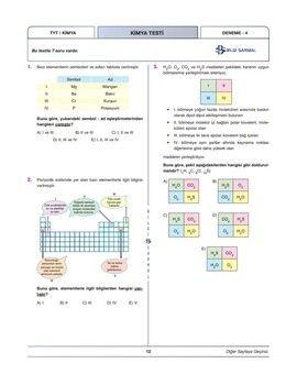 Bilgi Sarmal Yayınları TYT Kimya 40 x 7 Branş Denemeleri