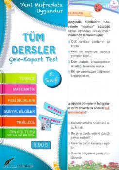 Bilgili Yayınları 5. Sınıf Tüm Dersler Çek Kopart Test
