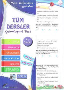 Bilgili Yayınları 6. Sınıf Tüm Dersler Çek Kopart Test