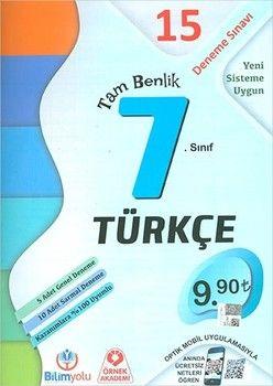 Bilimyolu Yayıncılık 7. Sınıf Türkçe Tam Benlik 15 Deneme Sınavı Optikli