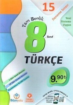 Bilimyolu Yayıncılık 8. Sınıf Türkçe Tam Benlik 15 Deneme Sınavı