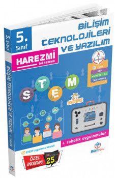 Bilimyolu Yayıncılık 5. Sınıf Bilişim Teknolojileri ve Yazılım Robotik Uygulamalar Harezmi Öğrenme
