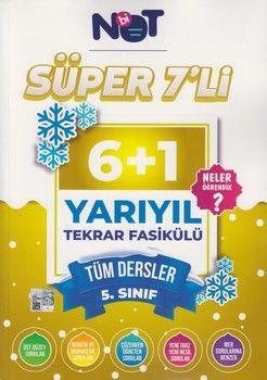 BiNot Yayınları 5. Sınıf Tüm Dersler Süper 7 li 6+1 Yarıyıl Tekrar Fasikülü