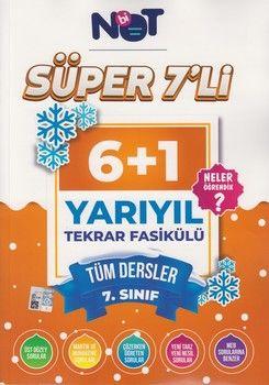 BiNot Yayınları 7. Sınıf Tüm Dersler Süper 7 li 6+1 Yarıyıl Tekrar Fasikülü