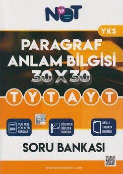 BiNot Yayınları TYT AYT Paragraf Anlam Bilgisi 30 x 30 Soru Bankası
