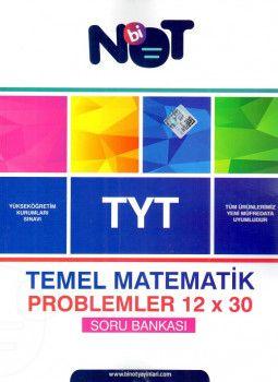 BiNot Yayınları YKS 1. Oturum TYT Temel Matematik Problemler 12x30 Soru Bankası