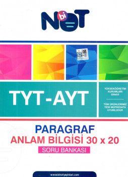 BiNot Yayınları YKS 2. Oturum AYT Paragraf Anlam Bilgisi 30x20 Soru Bankası