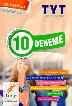 Birey Yayınları YKS 1. Oturum TYT Türkçe Matematik 10 Deneme Çek Kopart Set Gelişim Serisi
