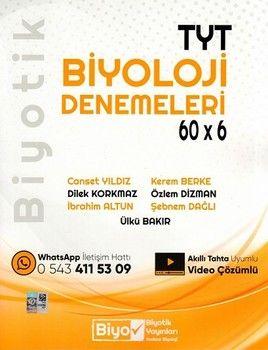 Biyotik Yayınları TYT Biyoloji Biyotik 60 x 6 Denemeleri