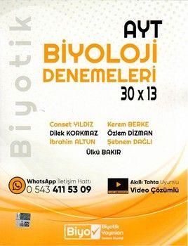 Biyotik Yayınları AYT Biyoloji Biyotik 30 x 13 Denemeleri