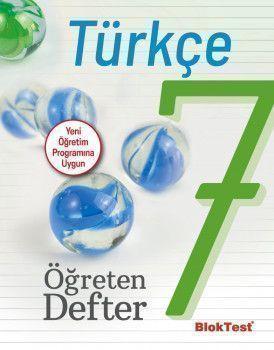 Bloktest Yayınları 7. Sınıf Türkçe Öğreten Defter