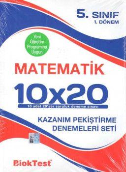 Bloktest Yayınları 5. Sınıf Matematik 10 x 20 Kazanım Pekiştirme Denemeleri Seti