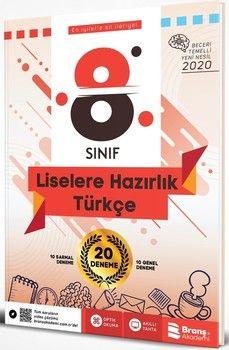 Branş Akademi 8. Sınıf LGS Türkçe Beceri Temelli 20 Deneme