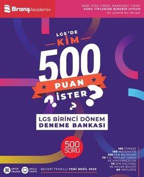Branş Akademi 8. Sınıf LGSde Kim 500 Puan İster İlk Dönem Deneme Bankası