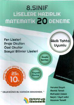 Branş Akademi 8. Sınıf Liselere Hazırlık Matematik 20 Deneme