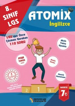 Branş Akademi 8. Sınıf LGS İngilizce Atomix
