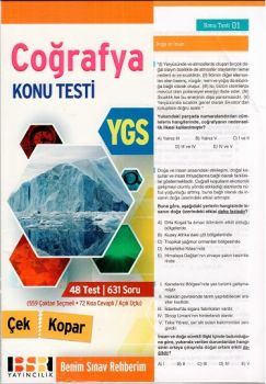 BSR Yayıncılık YGS Coğrafya Yaprak Test