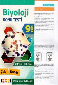 BSR Yayıncılık 9. Sınıf Biyoloji Çek Kopar Konu Testi