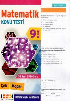 BSR Yayıncılık 9. Sınıf Matematik Çek Kopar Konu Testi