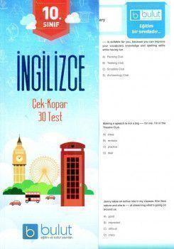 Bulut Eğitim ve Kültür Yayınları 10. Sınıf İngilizce Çek Kopar 40 Test