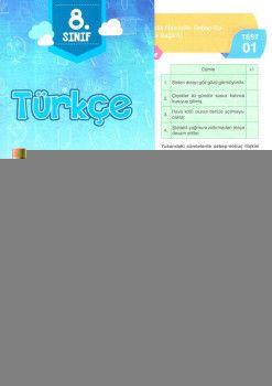 Bulut Eğitim ve Kültür Yayınları 8. Sınıf Türkçe Kazanım Değerlendirme Testi