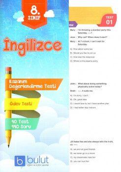 Bulut Eğitim ve Kültür Yayınları 8. Sınıf İngilizce Kazanım Değerlendirme Testi