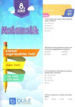 Bulut Eğitim ve Kültür Yayınları 8. Sınıf Matematik Kazanım Değerlendirme Testi