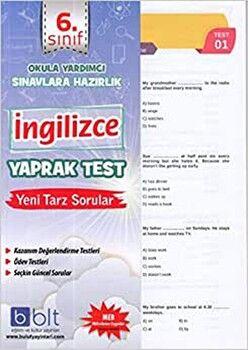 Bulut Eğitim ve Kültür Yayınları 6. Sınıf  İngilizce Yaprak Test