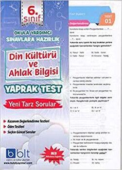 Bulut Eğitim ve Kültür Yayınları 6. Sınıf Din Kültürü ve Ahlak Bilgisi Yaprak Test