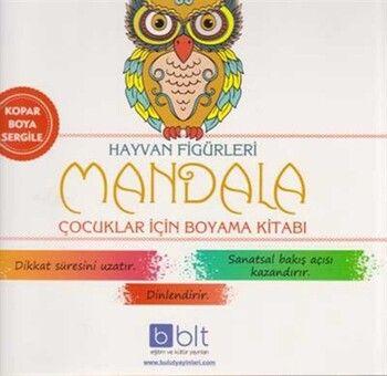 Bulut Eğitim ve Kültür Yayınları Hayvan Figürleri Mandala Çocuklar İçin Boyama Kitabı