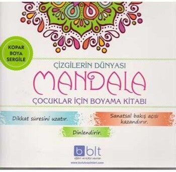 Bulut Eğitim ve Kültür Yayınları Çizgilerin Dünyası Mandala Çocuklar İçin Boyama Kitabı