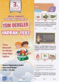 Bulut Eğitim ve Kültür Yayınları 3. Sınıf Tüm Dersler Çek Kopart Yaprak Test
